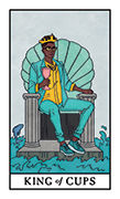 King of Cups Tarot card in Modern Witch deck