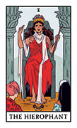 The Hierophant Tarot card in Modern Witch deck