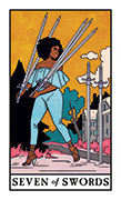 Seven of Swords Tarot card in Modern Witch deck