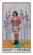 Eight of Swords Tarot card in Modern Witch deck