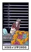 Nine of Swords Tarot card in Modern Witch deck