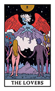 The Lovers Tarot card in Modern Witch deck