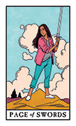 Page of Swords Tarot card in Modern Witch deck