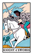 Knight of Swords Tarot card in Modern Witch deck