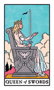 Queen of Swords Tarot card in Modern Witch deck