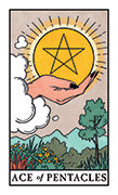 Ace of Pentacles Tarot card in Modern Witch deck