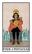 Four of Pentacles Tarot card in Modern Witch deck