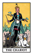 The Chariot Tarot card in Modern Witch deck