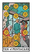 Ten of Pentacles Tarot card in Modern Witch deck
