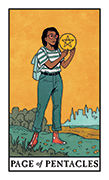 Page of Pentacles Tarot card in Modern Witch deck