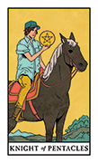 Knight of Pentacles Tarot card in Modern Witch deck