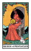 Queen of Pentacles Tarot card in Modern Witch deck