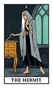 The Hermit Tarot card in Modern Witch deck