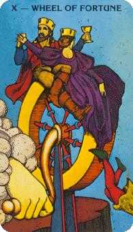Wheel of Fortune Tarot Card - Morgan-Greer Tarot Deck