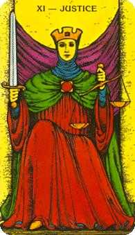 Justice Tarot Card - Morgan-Greer Tarot Deck