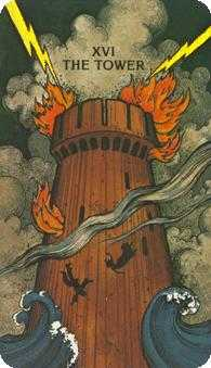 The Blasted Tower Tarot Card - Morgan-Greer Tarot Deck