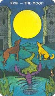 The Moon Tarot Card - Morgan-Greer Tarot Deck