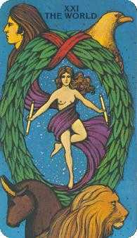 The World Tarot Card - Morgan-Greer Tarot Deck