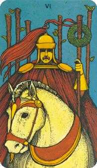 Six of Rods Tarot Card - Morgan-Greer Tarot Deck