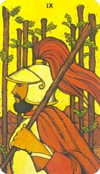 Nine of Rods Tarot Card - Morgan-Greer Tarot Deck