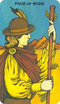 Valet of Batons Tarot Card - Morgan-Greer Tarot Deck