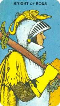 Knight of Staves Tarot Card - Morgan-Greer Tarot Deck