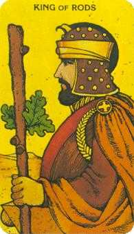 King of Staves Tarot Card - Morgan-Greer Tarot Deck