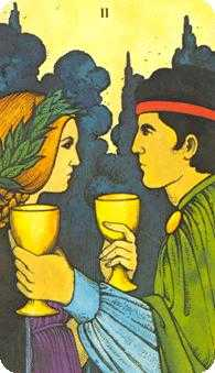 Two of Cups Tarot Card - Morgan-Greer Tarot Deck