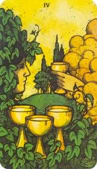 Four of Bowls Tarot Card - Morgan-Greer Tarot Deck