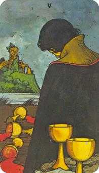 Five of Cauldrons Tarot Card - Morgan-Greer Tarot Deck
