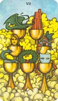 Seven of Bowls Tarot Card - Morgan-Greer Tarot Deck