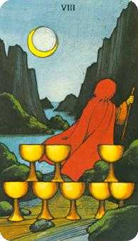 Eight of Bowls Tarot Card - Morgan-Greer Tarot Deck