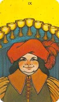 Nine of Cups Tarot Card - Morgan-Greer Tarot Deck