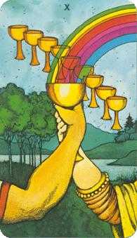 Ten of Water Tarot Card - Morgan-Greer Tarot Deck