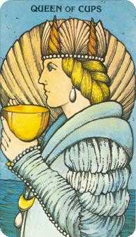 Queen of Bowls Tarot Card - Morgan-Greer Tarot Deck