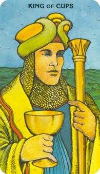 King of Cauldrons Tarot Card - Morgan-Greer Tarot Deck