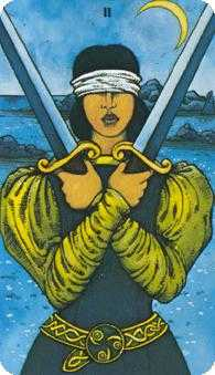 Two of Arrows Tarot Card - Morgan-Greer Tarot Deck