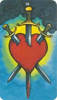 Three of Swords Tarot Card - Morgan-Greer Tarot Deck