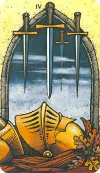 Four of Swords Tarot Card - Morgan-Greer Tarot Deck