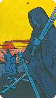 Five of Swords Tarot Card - Morgan-Greer Tarot Deck