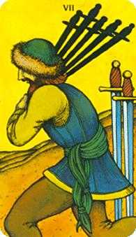 Seven of Swords Tarot Card - Morgan-Greer Tarot Deck