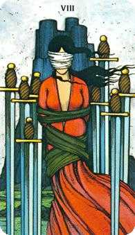 Eight of Swords Tarot Card - Morgan-Greer Tarot Deck