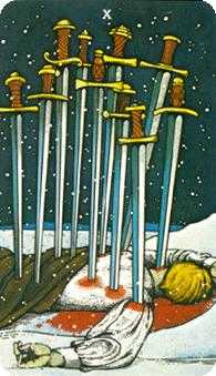 Ten of Swords Tarot Card - Morgan-Greer Tarot Deck