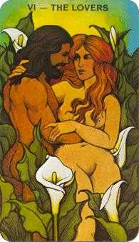 The Lovers Tarot Card - Morgan-Greer Tarot Deck