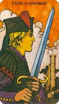 Valet of Swords Tarot Card - Morgan-Greer Tarot Deck