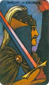 Knight of Spades Tarot Card - Morgan-Greer Tarot Deck
