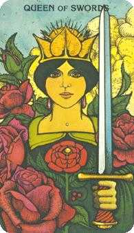 Priestess of Swords Tarot Card - Morgan-Greer Tarot Deck