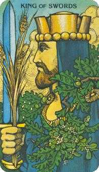 King of Swords Tarot Card - Morgan-Greer Tarot Deck