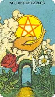 Ace of Discs Tarot Card - Morgan-Greer Tarot Deck