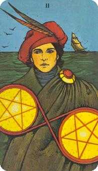 Two of Stones Tarot Card - Morgan-Greer Tarot Deck